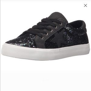 Not Rated Illana Black Glitter Sneakers - 8.5